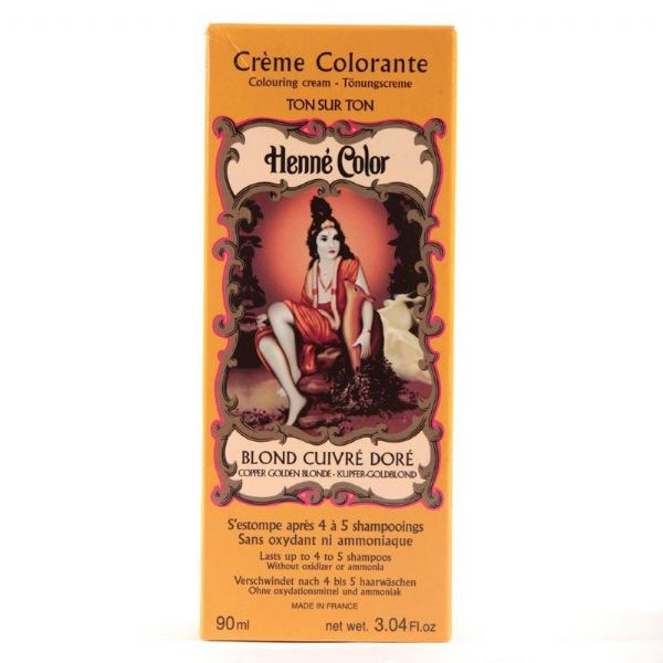 Copper Gold Blonde Henne Henna Liquid Hair Dye Colouring Cream | World's End Natural Products